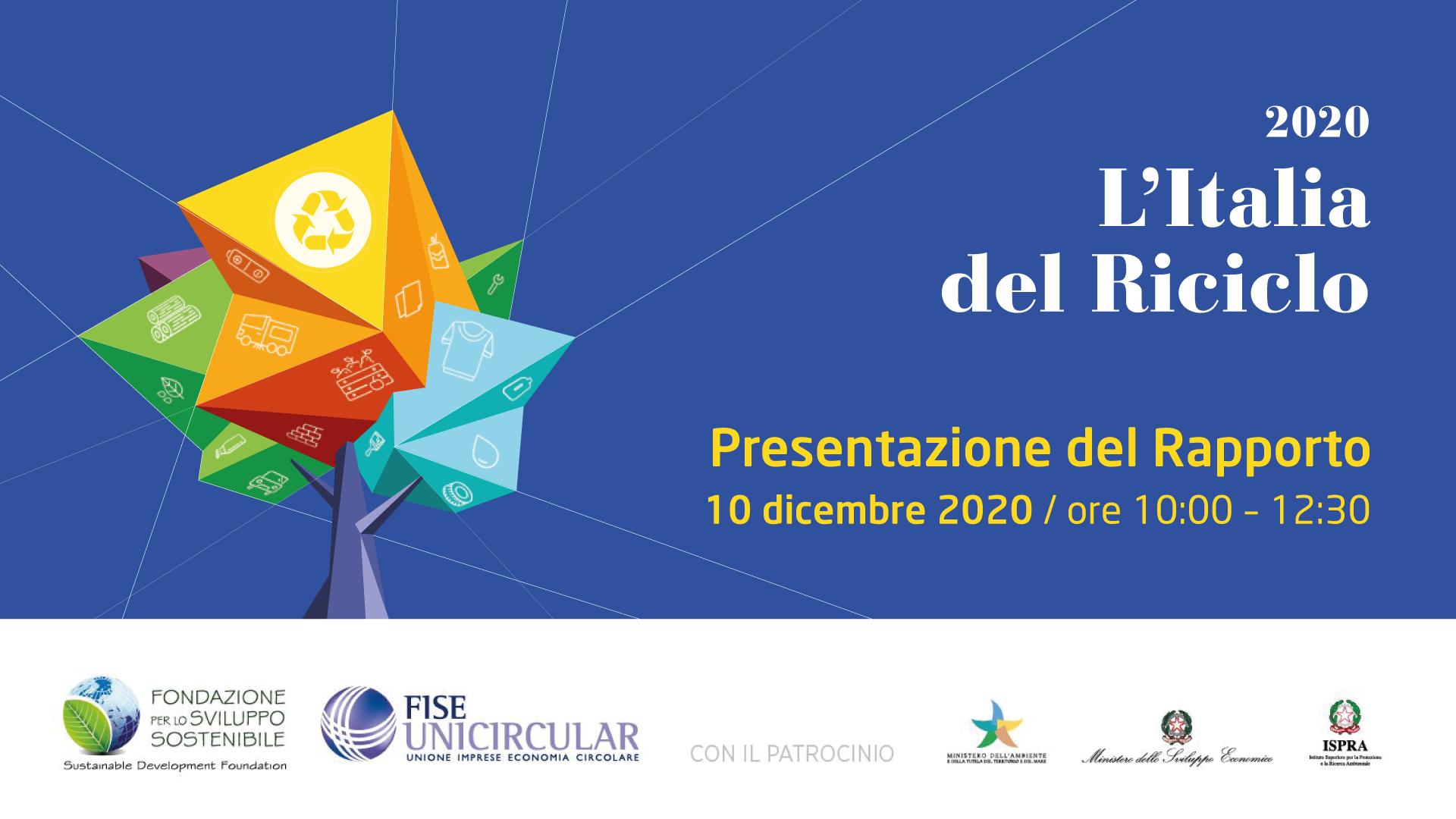 Italia del Riciclo 2020 consorzio C.A.R.P.I. Carpi riciclo plastica rapporto fondazione sviluppo sostenibile